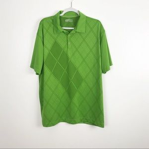 Men's Green Nike Fit Dry Golf Polo